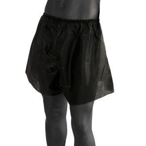 Bokserki męskie z włókniny czarne - 25 sztuk