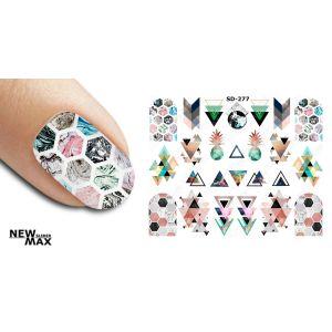 Naklejki wodne na paznokcie różne wzorki
