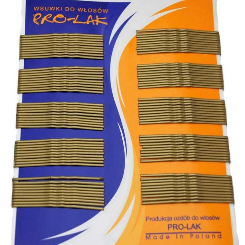 Wsuwki do włosów złote i srebrne 5,5 cm 100 szt.