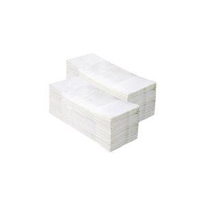 Ręczniki celulozowe ZZ Białe II-warstwowe 160szt