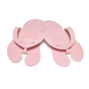 Klapki japonki z filcu pudrowy róż Premium 10 par