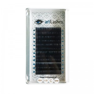 Rzęsy Z Norki Mink C 0,10 mm 7mm Art Lashes