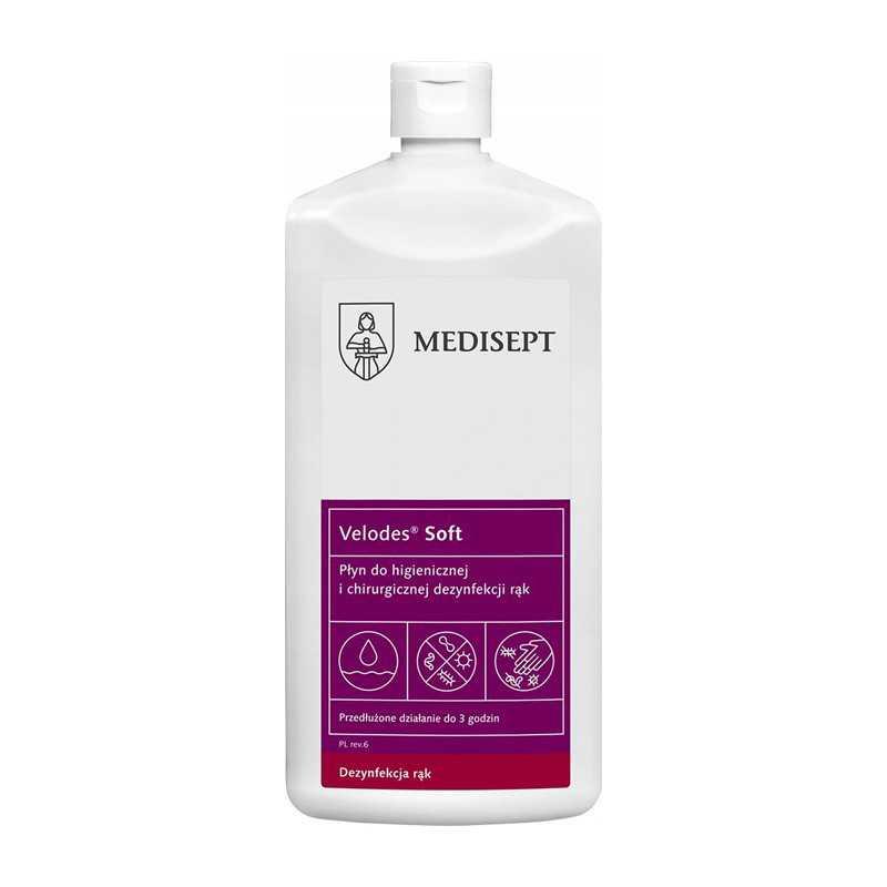Medi-Line VELODES SOFT Płyn alkoholowy do dezynfekcji rąk 500 ml