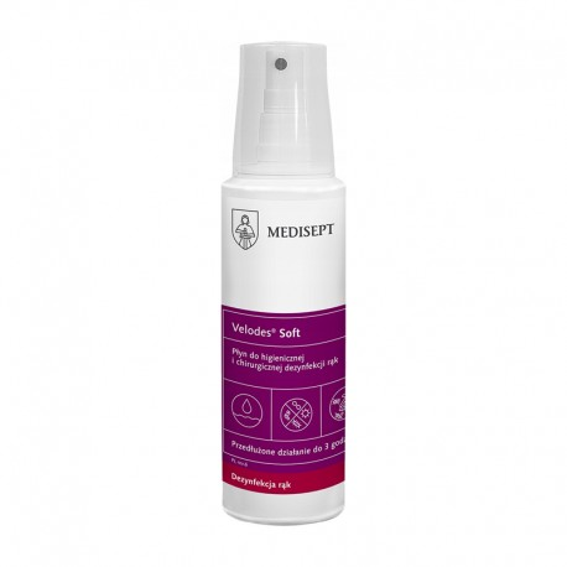 Medi-Line VELODES SOFT Płyn alkoholowy do dezynfekcji rąk 250 ml