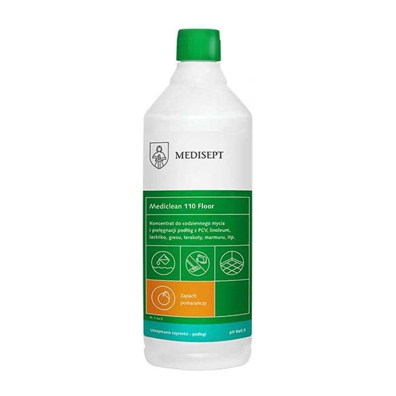 Płyn do mycia i konserwacji podłogi 1L pomarańczowy Mediclean MC110