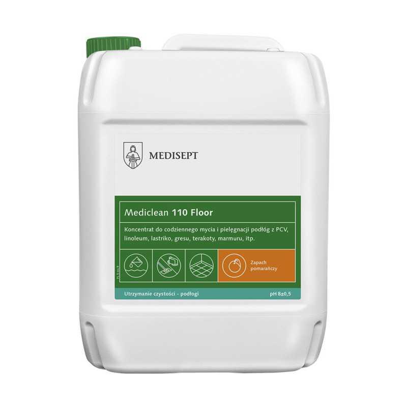 Mediclean MC 110 Preparat do mycia i konserwacji podłóg POMARAŃCZA 5L