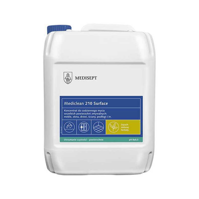 Mediclean MC 210 Preparat do mycia powierzchni zmywalnych ZIELONA HERBATA 5L