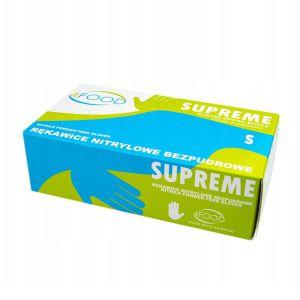 Rękawiczki nitrylowe bezpudrowe 100szt Supreme S