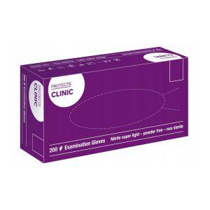 Rękawiczki jednorazowe nitrylowe Protects Clinic 200 szt.