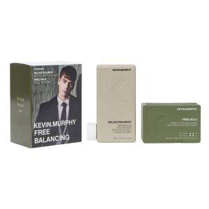 Zestaw dla mężczyzn szampon do codziennego stosowania i pasta do włosów Free Balancing Kevin Murphy