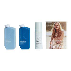Zestaw regenerująco odbudowujący do włosów szampon odżywka i pianka Heated Repair Kevin Murphy