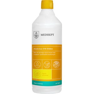 Mediclean 510 Dishes 1L - płyn do naczyń cytrynowy