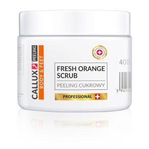 Peeling cukrowy świeże pomarańcze z nasionami żurawiny Fresh Orange 400g Callux