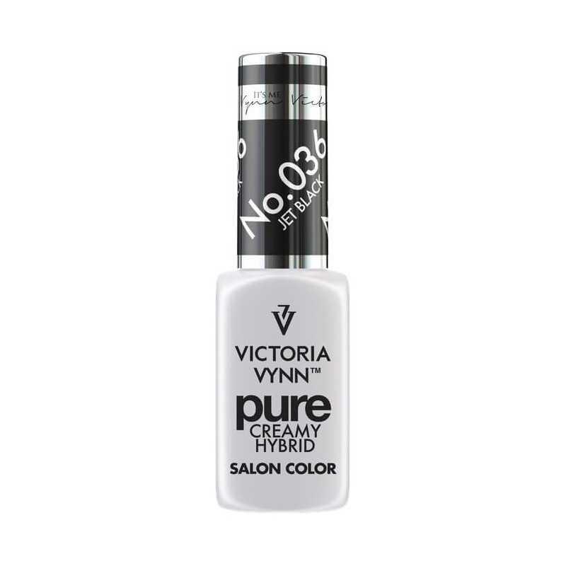 Kremowy lakier hybrydowy Victoria Vynn 036 Jet Black 8ml