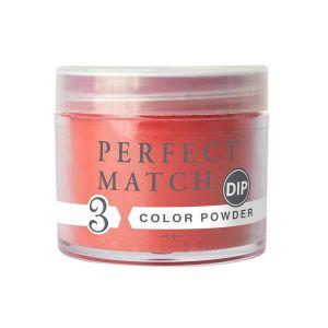 Puder do manicure tytanowego PMDP263 Little Red Dress Perfect Match DIP 42g