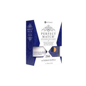 Zestaw lakier hybdrydowy i klasyczny PMS266 Indigo Flow Perfect Match
