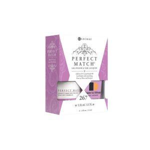 Zestaw lakier hybdrydowy i klasyczny PMS267 Lilac Lux Perfect Match