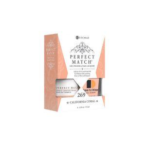 Zestaw lakier hybdrydowy i klasyczny PMS269 California Coral Perfct Match