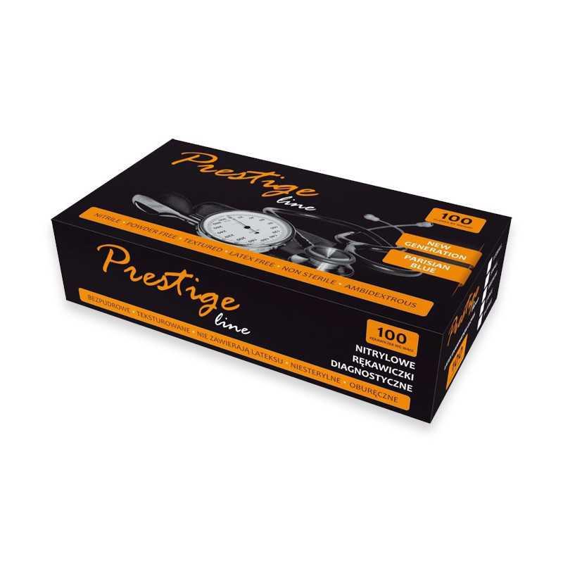 Rękawiczki nitrylowe bezpudrowe Prestige Line XS 100szt.