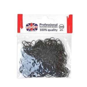 Gumki do włosów czarne silikonowe mini 10 szt. Ronney