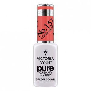 Kremowy lakier hybrydowy Victoria Vynn 151 Coral Neon 8ml