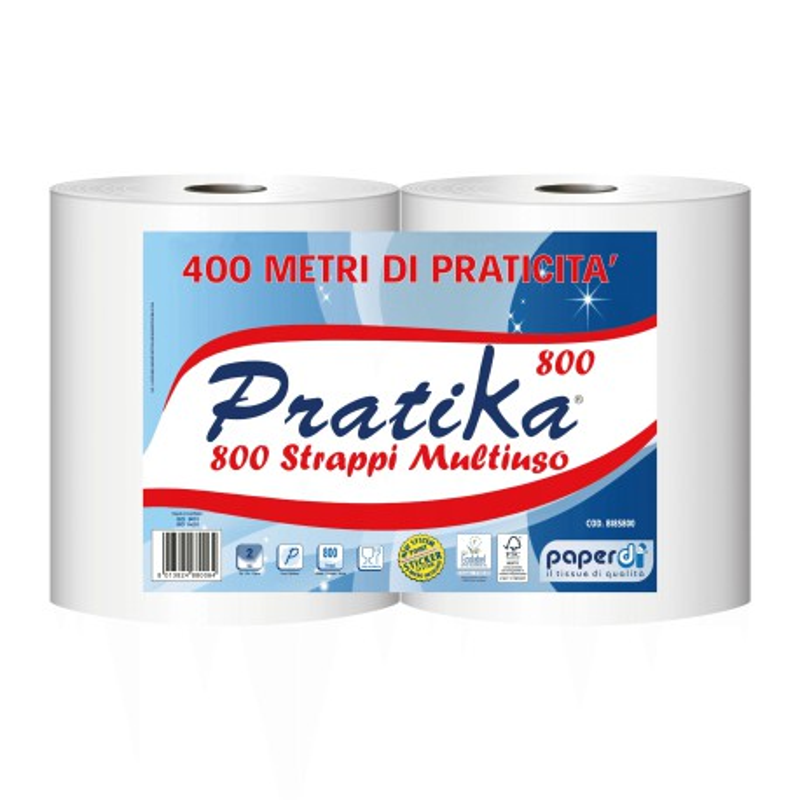 Ręczniki celulozowe w roli Perfetina Economic Duo 800