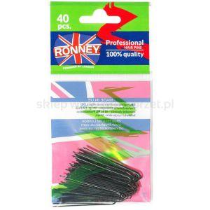 Kokówki fryzjerskie czarne RONNEY BLACK (A045/40) 40szt