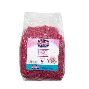 RONNEY Wosk w granulkach różany 1kg (perełki) FILMWAX SACK ROSE