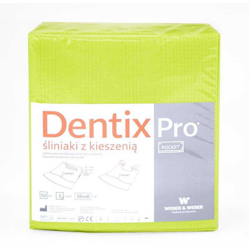 Śliniaki dentystyczne z kieszonką Dentix Pro