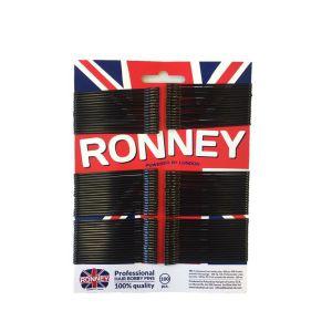 Ronney Profesjonalne wsuwki do włosów- długie, czarne, z kulkami