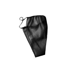 Stringi jednorazowe damskie czarne - (1/10szt)