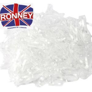 Ronney Gumki silikonowe do włosów białe 100g