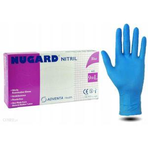 Rękawiczki nitrylowe niebieskie bezpudrowe NUGARD 100szt